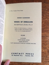 """Delta contained regular ads for the latest titles from Contact Press. Here Ellenbogen's entry in the McGill Poetry Series is announced as """"A New Contact Press Book."""""""